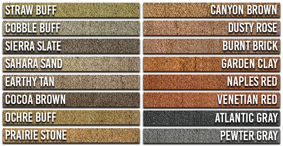 Lil' Bubba® CurbColor™ Swatches