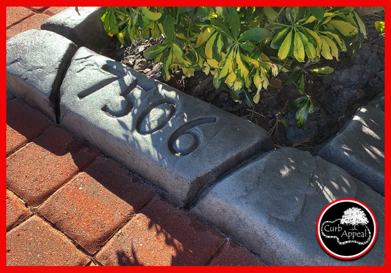 NC Curb Appeal - Moroccan Natural Stone - Tangier Slate with Stamped Address